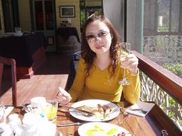 Nice breakfast with champagne by the river to top off a wonderful morning., Tee Chong L - October 2008