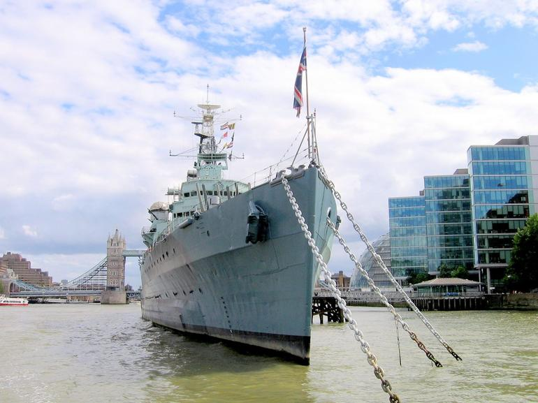 HMS Belfast ship on the Thames - London