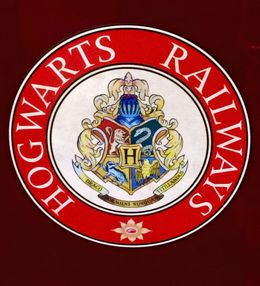 This is the logo on the side of the Hogwarts Express. , Susan L - June 2015