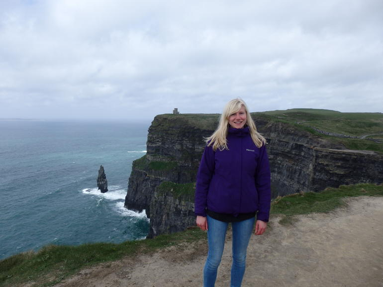 Me at the Cliffs of Moher. - Galway