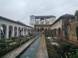 A very nice patio at the Alhambra. The weather was not so nice, though. , Julian - April 2014