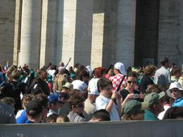 Lot of people on square, listening to mass., Dean Glavas - May 2008