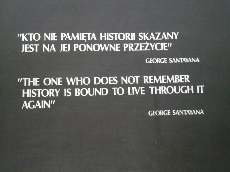 Plaque at Auschwitz Museum - Krakow