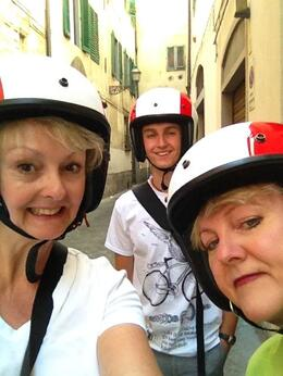 Photo of Florence Florence Vespa Tour: Tuscan Hills and Italian Cuisine Rockin' the helmets!