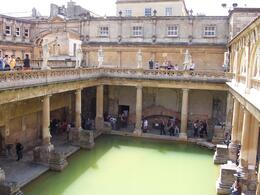 The Roman bath, heated by a hot spring, Robert M - July 2010