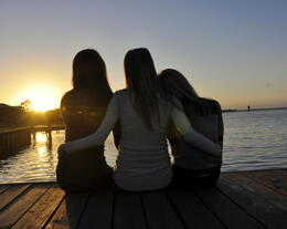 My Girls just sitting on the dock of the bay wasting time watching the sun set in Clear Lake Shores, TX. , speloqui - March 2011