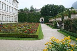 A beautiful view of the flowers and walkways in the gardens. - July 2009
