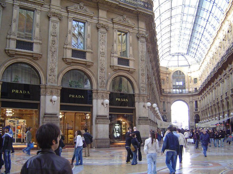 The Prada store in the Galleria Vittorio Emanuele II - Milan