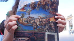 The guide took the time to explain the significance in certain paintings before entering the museum so we know what to look for in the Sistine Chapel, as no one was allowed to speak once inside. , Pan Ki Becky W - July 2014