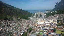 View from a higher point in the favelas , kedove - April 2014