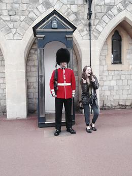 Myself and a gaurd , Simon S - October 2014