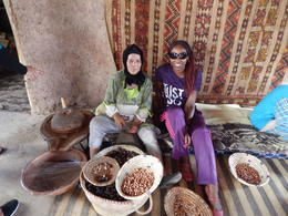 Photo of Marrakech Three Valleys Day Trip from Marrakech with Optional Visit to Takerkoust Lake and Kik Plateau Argan oil in the making