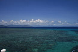 crystal-clear water and barrier-reef , Pal B - December 2012