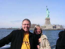Us 2 having a great 3 hours out on the Hudson seeing the sights. , Chris H - February 2011