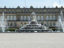 This is a view of Herrenchiemsee and it's main fountain. , karinafauble - June 2014