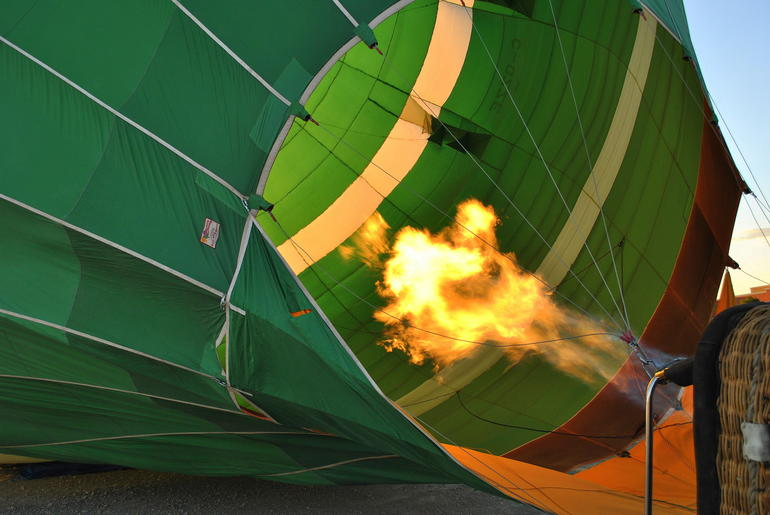 Inflating the balloon - Las Vegas