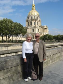 In front of Napoleon's tomb, DENNIS P - October 2009
