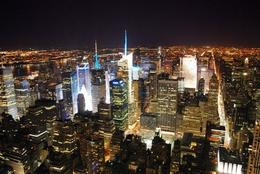 spectacular night view of the NYC from the observation deck of Empire State Building , Randunu - March 2013