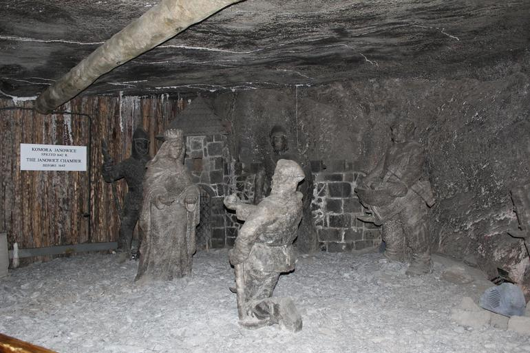Sculpture inside Salt Mine - Krakow