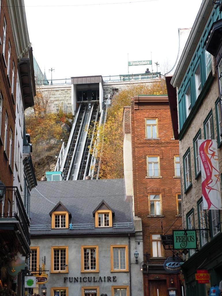 The Funiculaire transport from Upper to Lower Quebec City - Quebec City