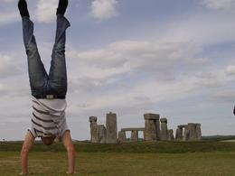 """Standhenge"" - My wife took a shot me me doing a handstand in front of Stonehenge, Brian B - September 2010"