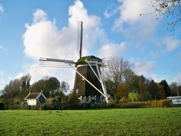 This is the windmill by the Rembrandt statue, Denise R - November 2009