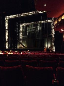 View of the stage from our seats for Jersey Boys , Sandy B - July 2013