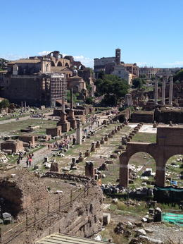 the roman forum, our guide took us to a beautiful spot, the ride up the hill was hell though. All worth it for this view!! , artist4rags - October 2012