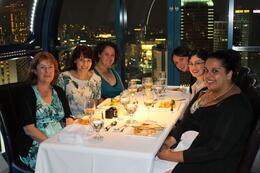 Mum and the girls in the Singapore flyer for dinner. Amazing views! , Aleatta P - April 2013
