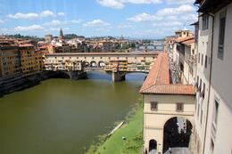 Photo of Florence Skip the Line: Boboli Gardens with Vasari Corridor Tour Looking out to the Vasari Corridor from the Uffizi Gallery.
