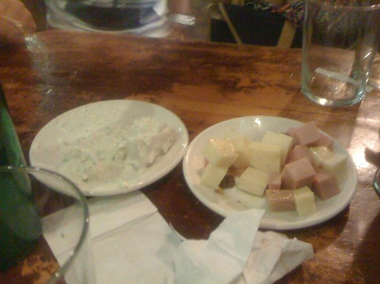 Potato salad and cheese & ham - Madrid