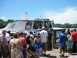 Lining up to board the boat for a relaxing cruise down the Potomac and back. , David S - August 2015