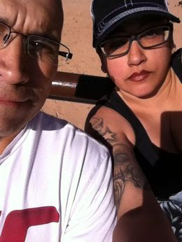me and my honey getting ready to ride the horses, Michele Carbajal Curiel - May 2015