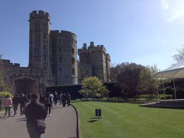 Visitors strolling around at Windsor Castle. , Sharon M - April 2016