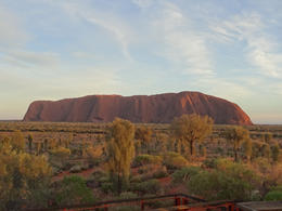 After waiting in the cold the sun eventually came up over Ayers rock , Angela A - June 2014