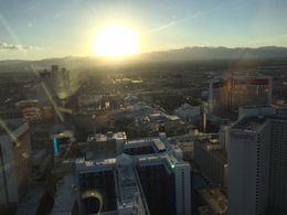 A beautiful view of the Strip at Sunset!, lreyes207 - October 2015