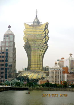 The famous casino Grand Lisboa, from across the waters. , ShirLs_B - November 2012