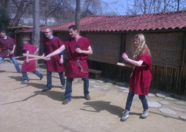 Training at Gladiator School - Rome