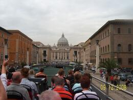 A view of Vatican City Basilica from the double decker bus., HONESTO G - September 2008