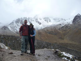 Photo of Cusco 5-Day Salkantay Trek and Machu Picchu Tour from Cusco Winded but smiling at the top of the switchbacks