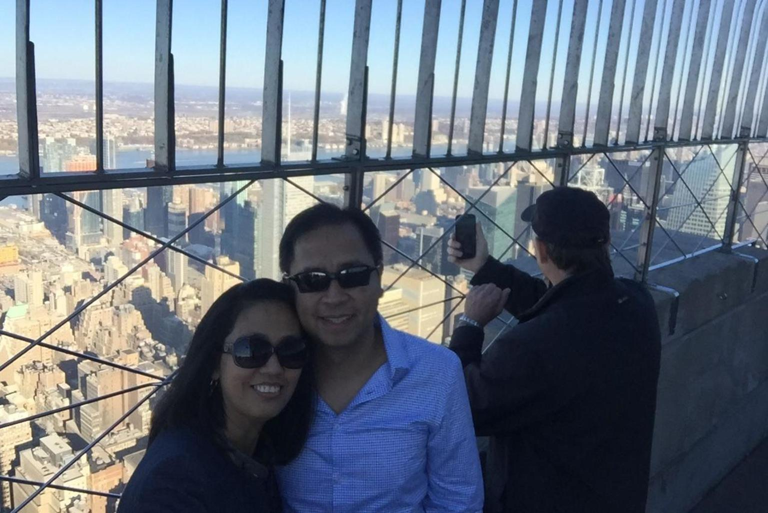 at the Empire state building