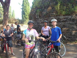 Photo of Rome Ancient Appian Way, Catacombs and Roman Countryside Bike Tour Biking the Appian way