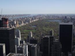 View of central park from top of the rock , Christopher P - April 2012