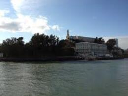 View of Alcatraz from the boat , Diana M - November 2011