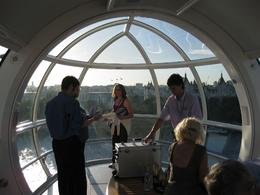 Photo of London London Eye: Skip the Line Tickets Inside the capsule with champagne