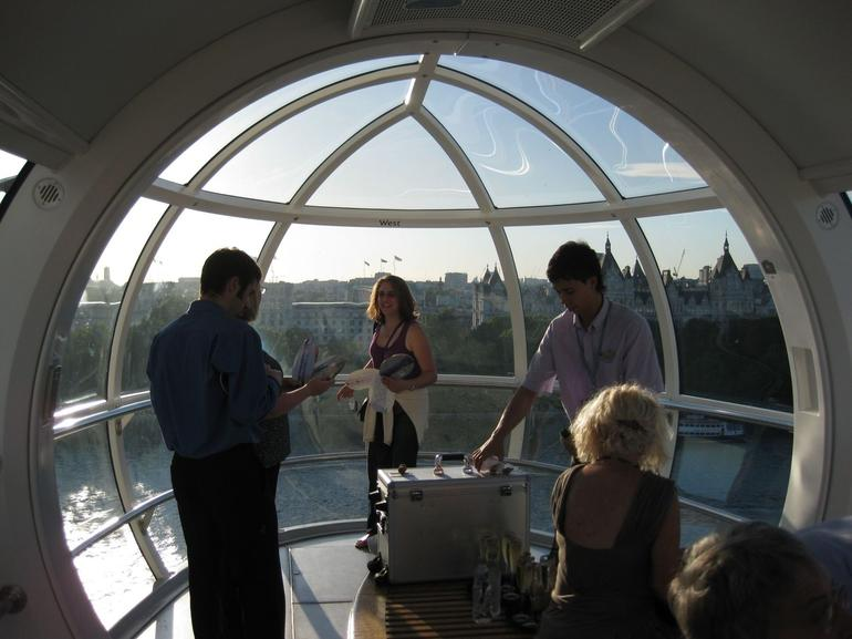 Inside the capsule with champagne - London