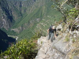 Photo of Cusco 5-Day Salkantay Trek and Machu Picchu Tour from Cusco It's a tough climb to Huayna Picchu but do it if you can!