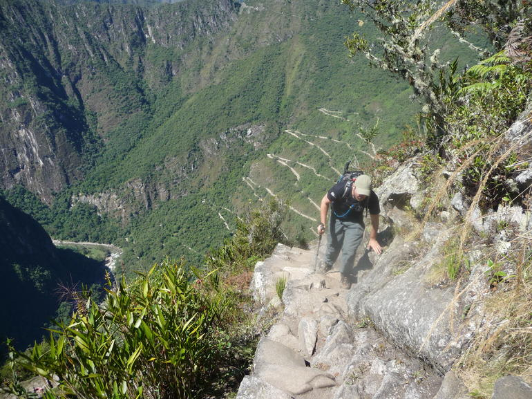 It's a tough climb to Huayna Picchu but do it if you can!