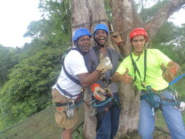 Photo of San Jose Sarapiqui River Sightseeing Cruise and Zipline Canopy Tour from San Jose Me and my buddy