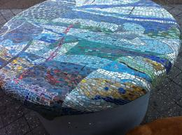 Photo of Granada Skip the Line: Alhambra and Generalife Gardens Half-Day Tour Mosaic on a table at Bondi Beach. Wonderful and free to see!.